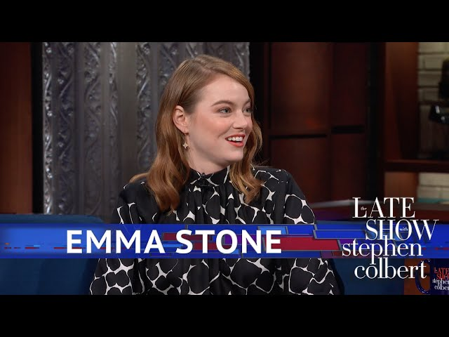 The late show with stephen colbert emma stone's elf character caught orlando bloom's attention