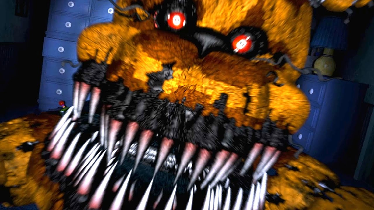 Five nights at freddy s 4 nightmare fredbear jumpscare youtube