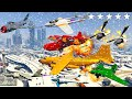 gta v new updated every airplanes winter snowy attacks in los santos city crash and fail compilation
