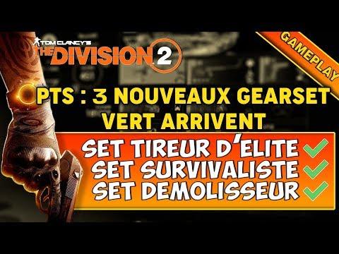 [The Division 2] PTS : PRESENTATION DES 3 NOUVEAUX GEARSET VERT !