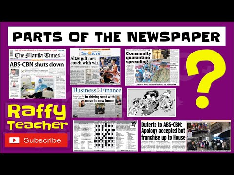 Parts of a NEWSPAPER -  / Perfect for Everybody /