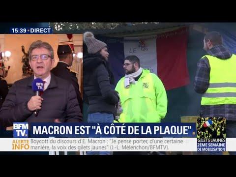 Mélenchon appelle les membres de La France insoumise à rejoindre le mouvement des gilets jaunes