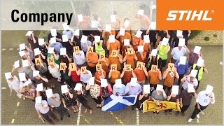 stihl employees congratulate the company on its 90th anniversary