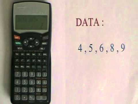 basic statistics operations on the sharp el 531w youtube rh youtube com user manual for sharp el-531wh calculator Parts for Sharp Calculator EL 1197 III