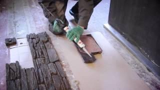 видео декоративный камень как клеить