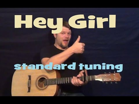 Hey Girl (Billy Currington) Easy Strum Guitar Lesson Chord - How to Play Drop Tuning in Standard
