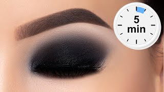 5 MINUTE Classic Black Smokey Eyes Tutorial
