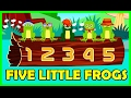 Five Little Speckled Frogs Song | 5 Little Speckled Frogs | Tickling Toddlers