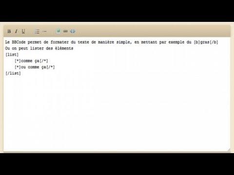 Tutoriel PHP : BBCode