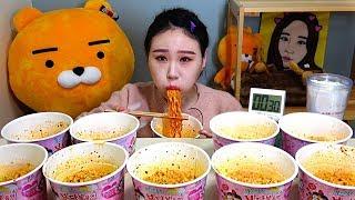 도전먹방 까르보불닭볶음면 10컵 Challenge Mukbang eating show