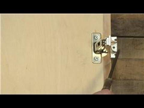 Home Help How To Adjust European Style Cabinet Door Hinges Youtube
