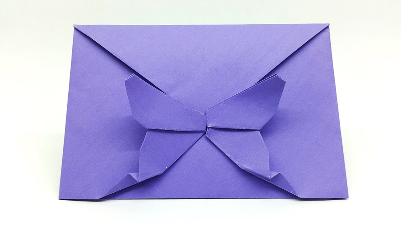 Download How to make Butterfly shaped Paper Envelope - Origami ...