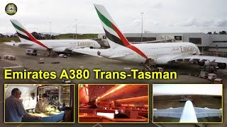 emirates a380 business class trans tasman service auckland melbourne airclips full flight series