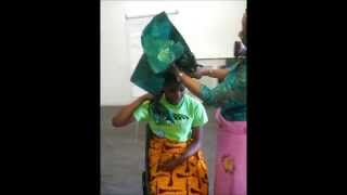 how to tie urhobo wrapper video