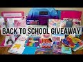 MASSIVE BACK TO SCHOOL SUPPLIES HAUL & GIVEAWAY | 2017 | CLOSED!!!