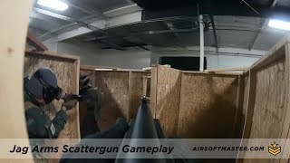 Airsoft Gameplay - Jag Arms Scattergun Gas Shotgun by CQB Russian at Project N1