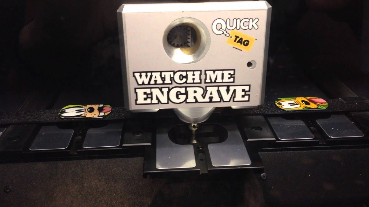 engraving machine for tags