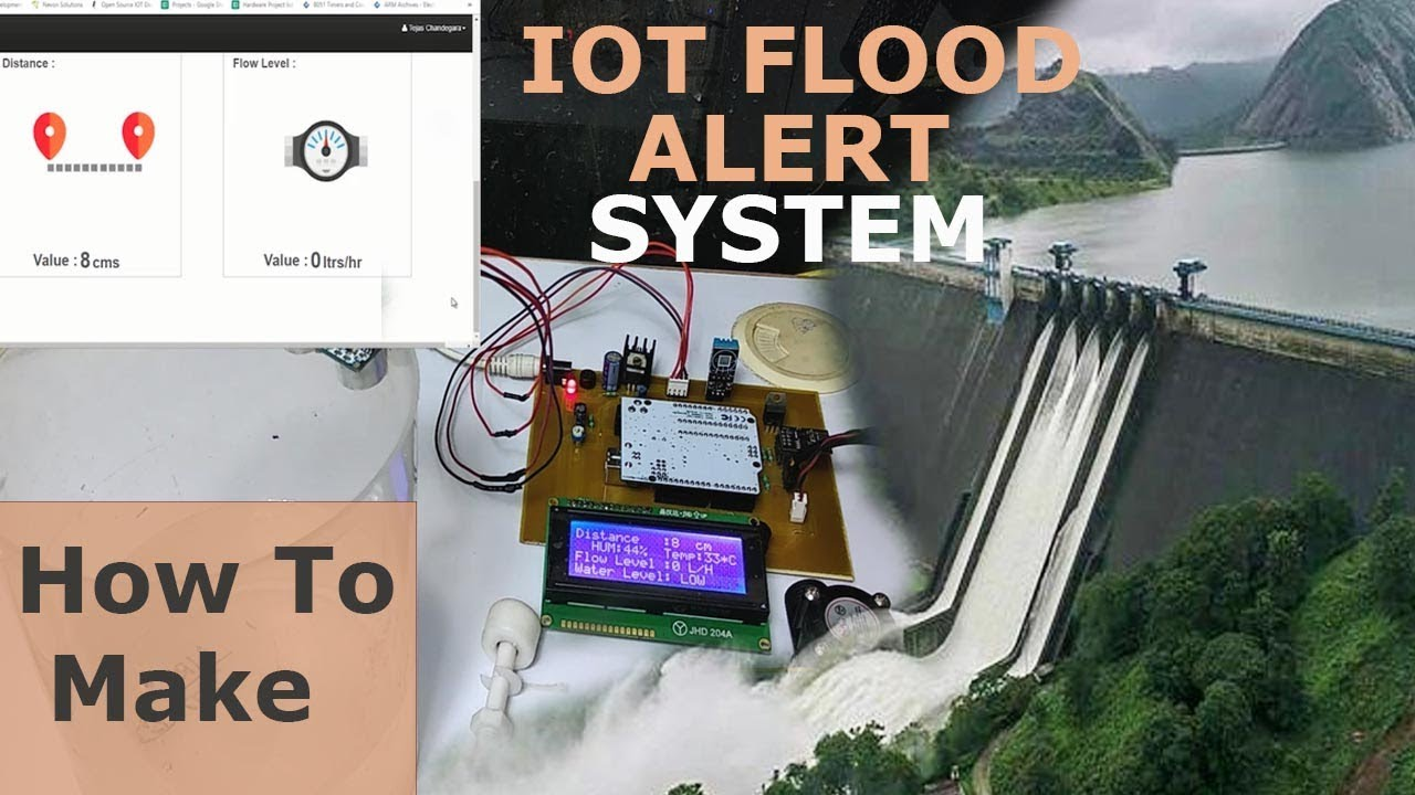 Iot Early Flood Detection And Avoidance System Youtube