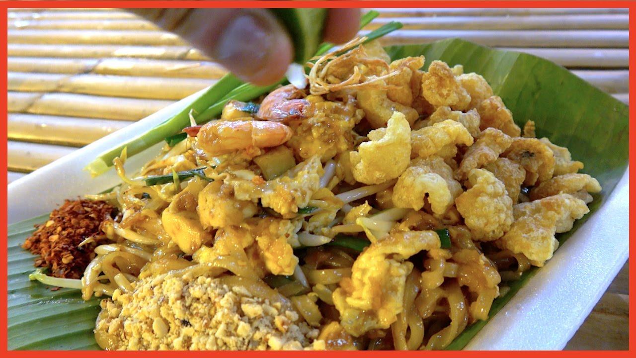 Shrimps Noodle Crispy Pork - Street Food