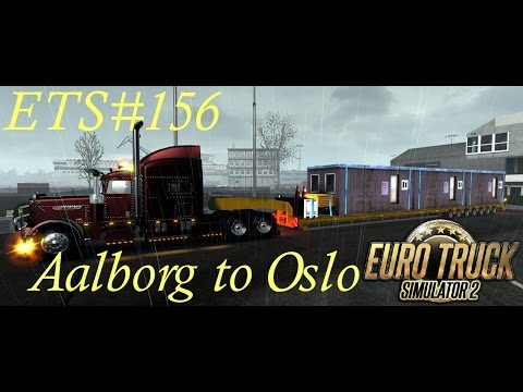 ETS#156 Denmark-Norway   Transporting a 19 tons portable office from Aalborg to Oslo 145 Km