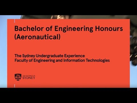Bachelor of Engineering Honours (Aeronautical), University of Sydney