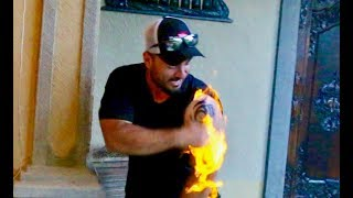 TATTOO PRANK GONE EXTREMELY WRONG!! (TATTOO GOT ON FIRE)