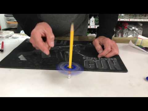 levitating fidget spinner pencil trick AMAZING GYRO SPINS IN MID AIR