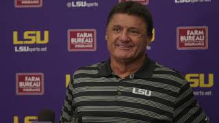 FULL Ed Orgeron press conference from Wednesday, Aug. 21