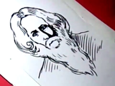 How to Draw RABINDRANATH TAGORE DRAWING step by step - YouTube