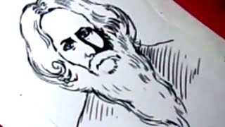 How to Draw RABINDRANATH TAGORE DRAWING step by step for KIDS