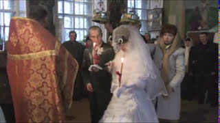 горит фата на венчании avi