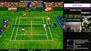 Sega Genesis A Z : Agassi Tennis (journey To Beat Every Sega Genesis Game) Day 4
