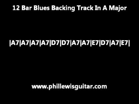 12 Bar Blues Backing Track In A Major