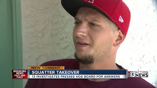 Squatter takeover HOA confrontation