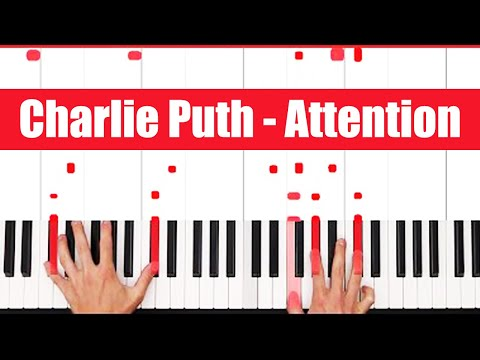 Attention Charlie Puth Piano Tutorial - VOCAL