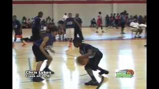 Chris Lykes shows hes is a tough point guard with crazy game @ Super Showcase Class of