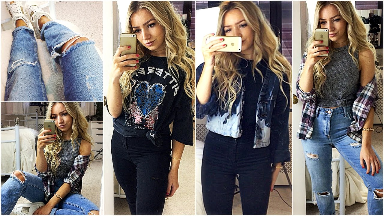OUTFITS OF THE WEEK 2017 / CASUAL OUTFIT IDEAS  Topshop, River Island \u0026  Vintage! , YouTube