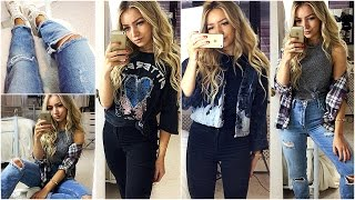 OUTFITS OF THE WEEK 2017 / CASUAL OUTFIT IDEAS : Topshop, River Island & Vintage!
