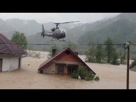 Dramatic Helicopter Rescue In Flood Ravaged Bosnia No