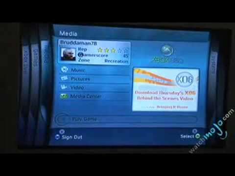 Review of Xbox 360 - Dashboard Menu