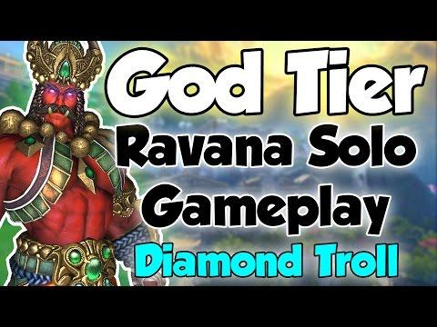 Smite: God Tier- Ravana Solo Gameplay