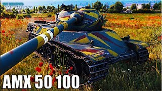AMX 50 100 потные ТРИ ОТМЕТКИ 🌟 World of Tanks лучший бой на французском тт 8 уровень