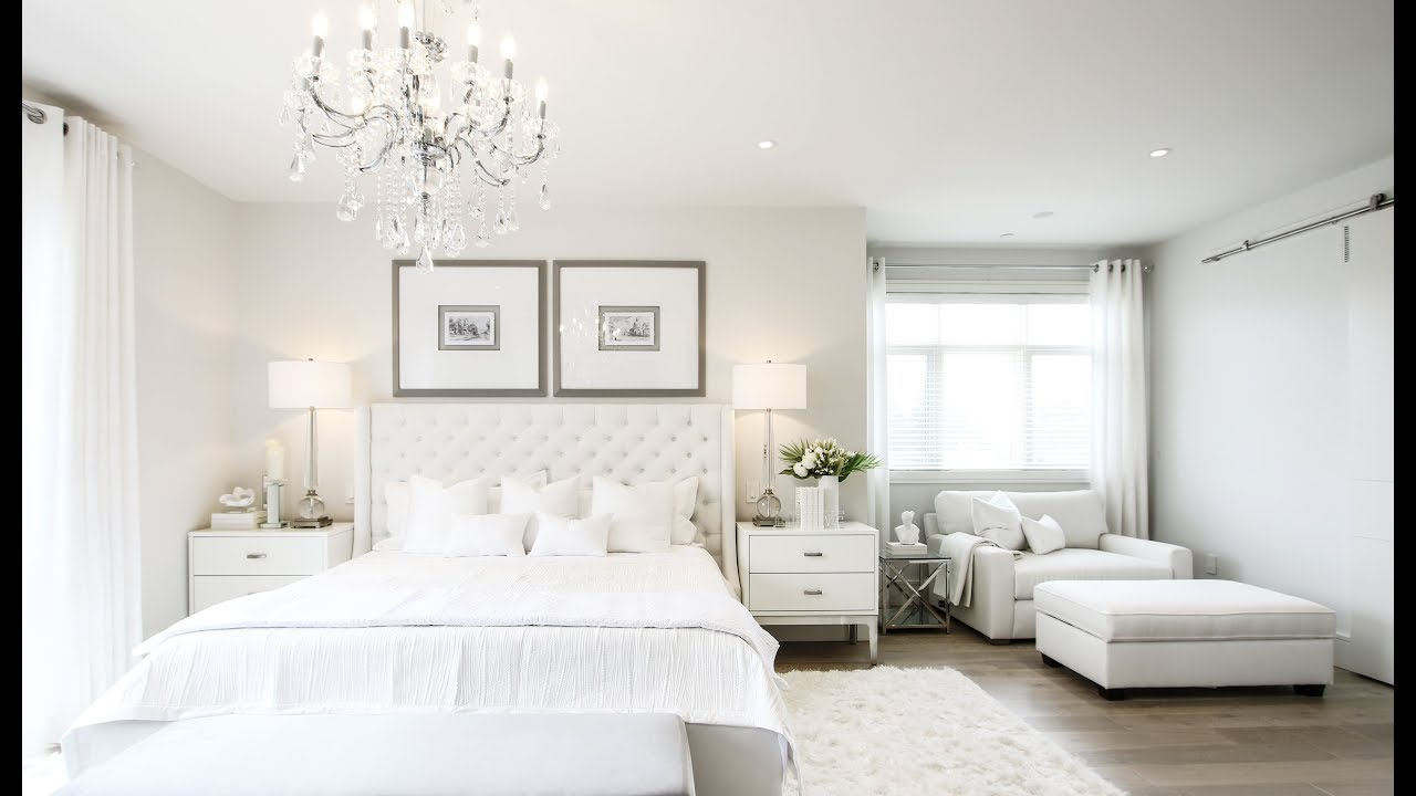 Stunning All White Master Bedroom Makeover - Kimmberly ...