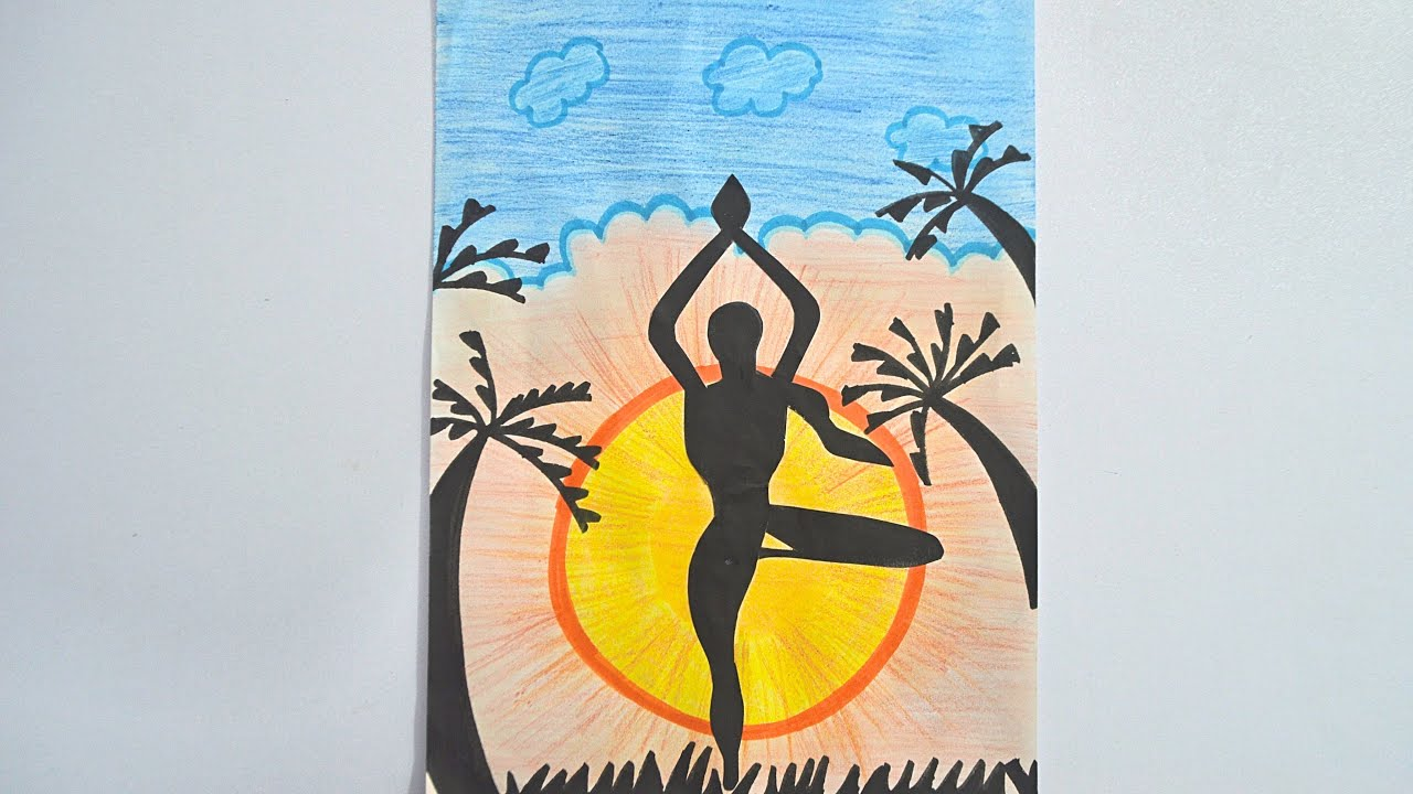 Yoga Day Poster World International Yoga Day Poster Making Competition Youtube