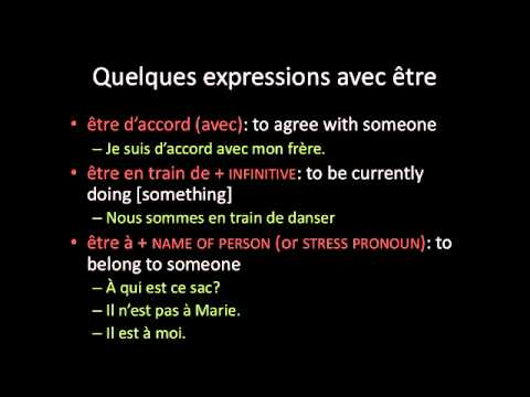 French: expressions with être - YouTube