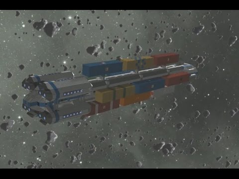 Space Engineers Commercial Transport Cargo Ship Youtube