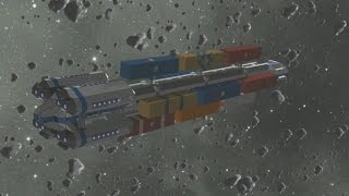 Space Engineers - commercial & transport cargo ship