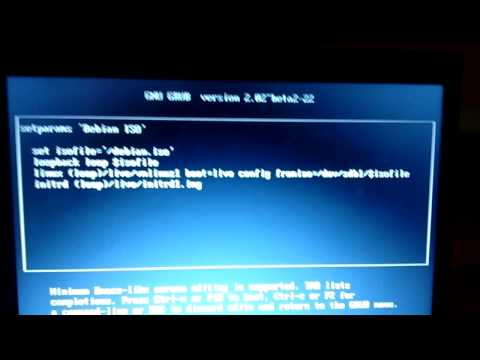 Booting Debian Live CD ISO from USB Flash Drive using Grub2