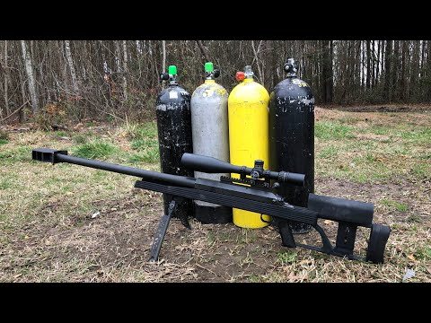 Pressurized Scuba Tanks Explode Vs. 50 Caliber BMG