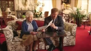 مقطع ساخر للملكة إليزابيث وحفيدها الأمير هاري